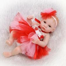 "Mini Full Silicone Reborn Doll 10"" Lifelike Realistic Baby Bath Toy Xmas Gift"