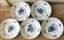 Lovely Set of 5 Royal Copenhagen Blue Flower Braided Luncheon Plates