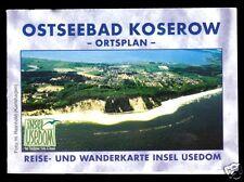Stadtplan und Umgebungskarte, Ostseebad Koserow auf Usedom, 1999