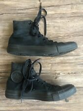 CONVERSE CHUCK TAYLOR ALL STAR BLACK MONOCHROME CANVAS HI SNEAKERS M 6 W 8 Shoes