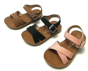Newborn Baby Girl Soft Sole Crib Shoes Infant Toddler Summer Sandals Size 4-9