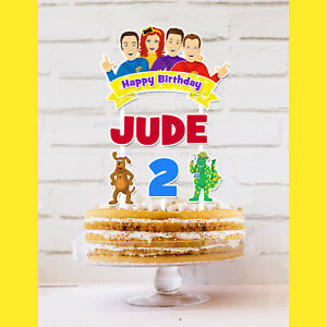 The Wiggles Cake Topper Personalised *STURDY* Kids Birthday Party Decorations