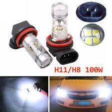 100W H11 H8 High Power 6000K Xenon White 2828 LED Fog Driving Light Bulbs