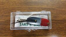 Antique Collectable Vintage New in Box JAKE'S BAIT Fishing Lure - Red & Silver