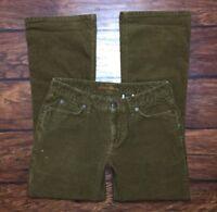 Eddie Bauer Corduroy Jeans Size 2 Womens Brown Boot Cut Leg Stretch