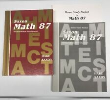 Saxon Math 8/7 SET, 87 Textbook, Answer Key And Test Forms
