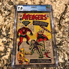 The Avengers #2 CGC 7.0 rare White pages High end Marvel Hulk leaves MCU MOVIES