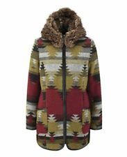 Joe Browns 'Stand Out' Coat UK 16 Blanket Aztec Winter Faux Fur Parka Duffle