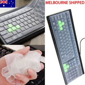 Silicone Keyboard Cover Skin Protector Reusable Film Universal Desktop Computer