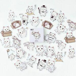 """Cute Kittens"" 45pcs Cat Stickers Scrapbooking Craft Decor Kawaii Stickers"