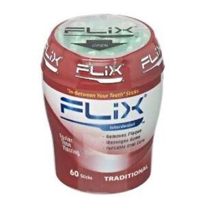 Flix Traditional Interdental Dental Sticks Pots (x60)