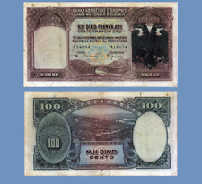 ALBANIA 100 FRANKA ARI 1939 UNC - Reproduction