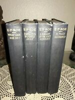 4 books  The Works of E.P. Roe 1878, 1877, 1901