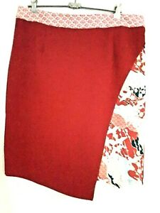 Smash Barcelona ladies skirt Red oriental detail size XL BNWT RRP $99.95 funky