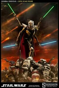 """SIDESHOW STAR WARS GENERAL GRIEVOUS 1/6 SCALE 12"""" FIGURE 100027 NEW"""