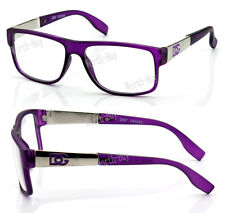 New WB Womens Square Clear Lens Frame Eye Glasses Fashion Designer Purple Nerd