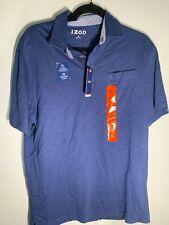 IZOD Men's Polo, Medium, Club Blue/ Navy