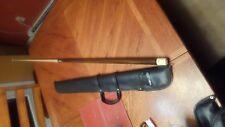 vintage Huebler Custom Billiards Pool Cue Stick made in the usa + soft case