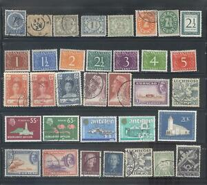NETHERLANDS ANTILLES - Small Collection of 34 Different Stamps.