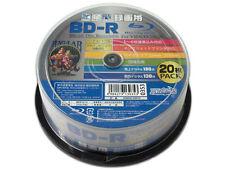 20 Hi-Disc Blu-ray BD-R 25GB 6x Pro Model No Logo Inkjet Printable Bluray TDK