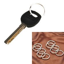 10pcs/set Key Rings Split Rings Hoop Metal Key Holder Keyfob Accessories 25MM