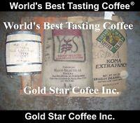 8 lb GREEN Coffee - Jamaica Blue Mountain, Peaberry, Hawaii Kona, Yauco Selecto
