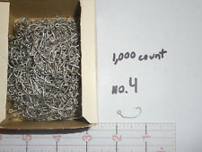 1,000 MUSTAD  size 4 JIG HOOKS FOR JIG MOLD OR CRAPPY 31110 Shank Bent Special!!