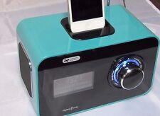Soluciones Acústicas radio DAB Despertador Con Ipod y Iphone acoplamiento. Verde. Nueva.