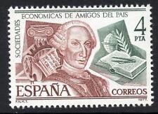 España estampillada sin montar o nunca montada 1977 SG2451 200th aniversario de la sociedad de los amigos de la Tierra