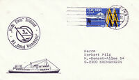 GERMAN PASSENGER SHIP MS SEEBAD WARNEMUNDE A SHIPS CACHED COVER