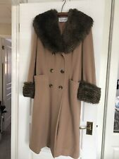 Ladies  J TaylorWool Coat With Faux Fur Collar and Cuffs Size12