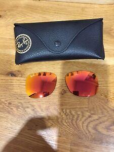 Rayban Justin Orange Mirror Tint lenses 54-16-145 Brand New Originals