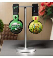 Solid Base Dual Side Aluminum Desktop Headphones Stand for Beats DNA Bose CHROME