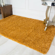 The Rug House Ontario Yellow Ochre Soft Touch Easy Clean Living Room Shaggy Rugs