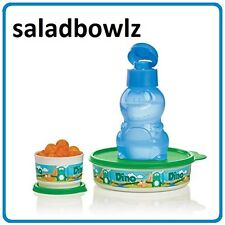 TUPPERWARE DANNY DINO-MITE SNACK SET & ECO BOTTLE Lunch Bowl Snack Cup fREEsHIP!