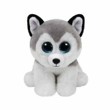 TY BUFF THE HUSKY BEANIE BABIES 15CM SOFT TOY DOG PUPPY WITH HEART TAG AGE 3+