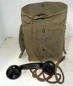 TELEFONO DA CAMPO EE-8-B-I U.S. ARMY 1944 RIUTILIZZATO DALL'ESERCITO ITALIANO