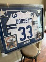 Tony Dorsett Authentic Autograph Framed Jersey COA JSA Cowboys