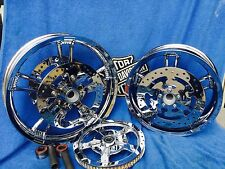 Harley Chrome Street Glide FLHX Enforcer RIMS 2014-17 ROTORS,BEARING,PULLEY,ABS