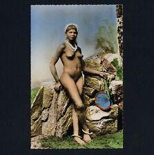 North Africa NUDE ARAB WOMAN / NACKTE ARABERIN Prostitute * Vintage 50s RPPC
