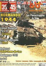 39-45 N° 212 BUNKER A ST JEAN DE LUZ / MADAGASCAR 42 / PANZERTRUPPEN / ELBEUF