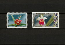 (YYAZ 740) Laos 1971 MNH Mich 312, 314 Flowers Indochina Airmail