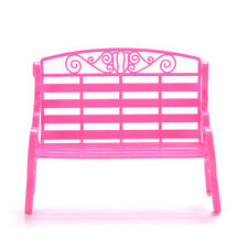 1 X Fashion Beach Chairs for Barbies Dollhouse Furniture Double Chair Kids Pop