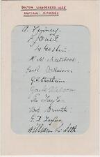 BOLTON WANDERERS FC- 1935 - SIGNED TEAM CARD -RARE