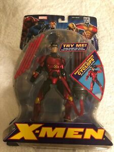 NEW Marvel X-MEN RUBY QUARTZ ARMOR CYCLOPS ACTION FIGURE TOYBIZ 2005!