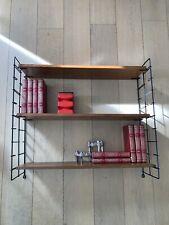 Mid Century 50er 60er String Nisse Stil Danish Design Teak Leiterregal Wand
