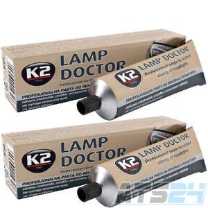 2x K2 Scheinwerferpolitur 60g L3050 LampDoctor Kratzer Entferner Scheinwerfer