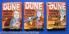 Fleer Bubble Gum  ' DUNE ' 3 Different  Sealed Unopened Wax Packets 1984