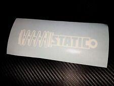 WHITE Static Sticker Decal JDM VDUB Drift Show Stance Lowered Flush Euro EDM JAP