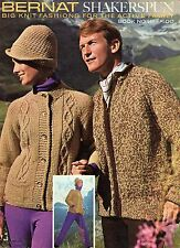 Bernat Shakerspun Big Knit Fashions Sweater Patterns